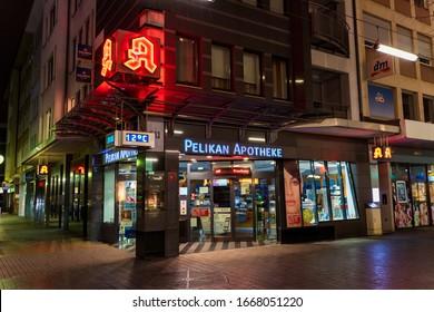 Pelikan pharmacy in Mannheim city centre on 08.03.2020