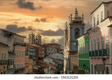 Pelourinho, Historic Center of the city of Salvador Bahia Brazil - Shutterstock ID 1963131205