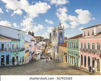 Pelourinho in Salvador da Bahia, Brazil