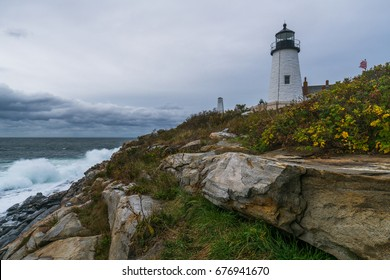 Pemaquid Light and Crashing Wave