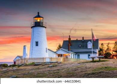 Pemaquid Point Light in Bristol, Maine, USA.