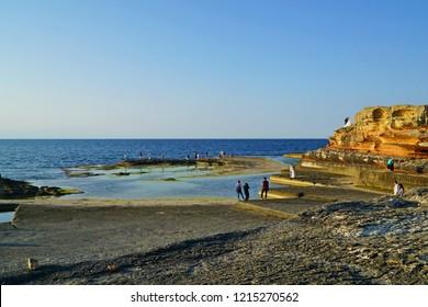 Pembe Kayalar, Pink rocks, Kefken, Kocaeli, Turkey