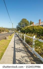 Pemberton, WESTERN AUSTRALIA - MARCH 28 2017: The Pemberton town. Pemberton is a town in the South West region of Western Australia, named after original settler Pemberton Walcott.