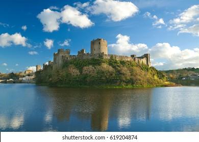 Pembroke Castle, Pembrokeshire, Wales, UK