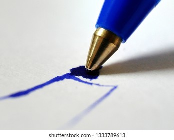 Pen with blue ink