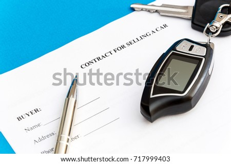 pen car key on contract selling stock photo edit now 717999403