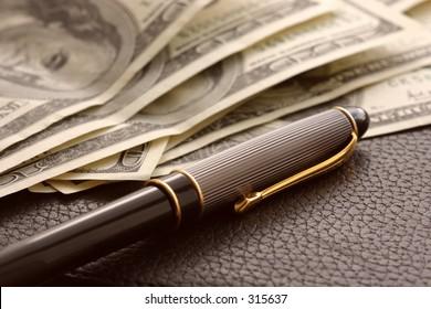 Pen and cash