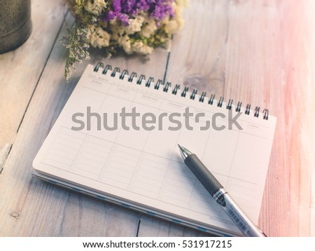 pen daily business planner stock photo edit now 531917215