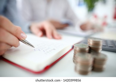 Pen diary finance hand for home page design. Business financial accounting concept.