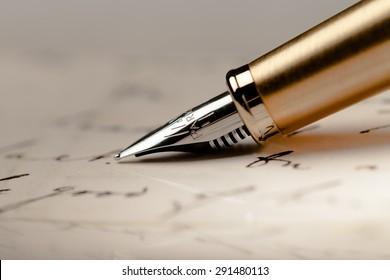 Pen, Guest Book, Fountain Pen.