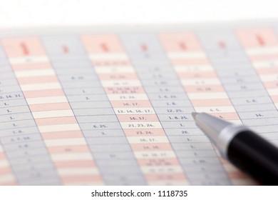 Pen on a chart