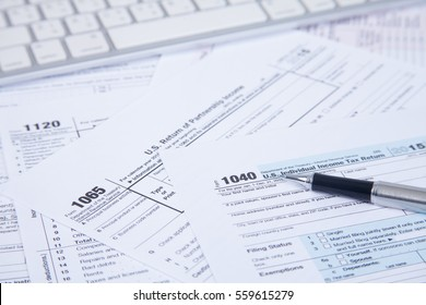 PEN on US Tax form Background. Finance and TAX concept
