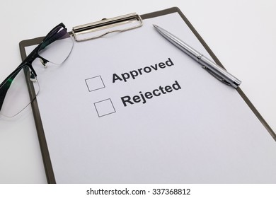 pen over document, select Approved or Rejected.