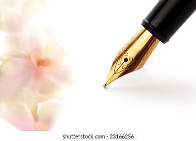 pen and romantic letter