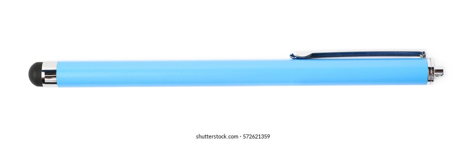 Pen shaped drawing stylus isolated over the white background