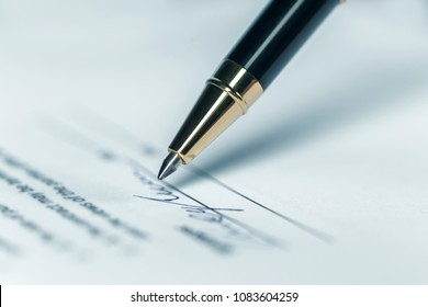 Pen, Writing Letter or Contract Signature Horizontal background