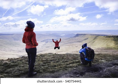 Pen Y Fan, on top of the welsh mountain in Brecon Beacons National Park