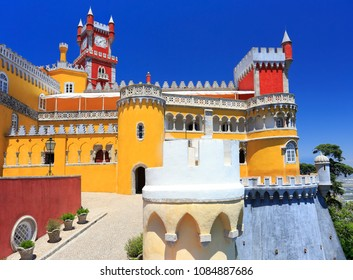 Pena National Palace above Sintra town, Portugal