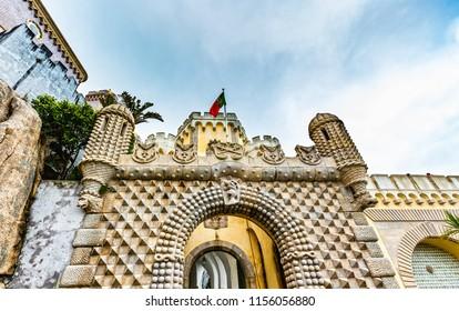 Pena National Palace, Palacio da Pena, in Sintra, Portugal
