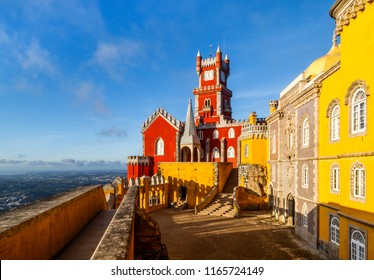 Pena National Palace, Sintra, Portugal. Travel Europe, holidays in Portugal.