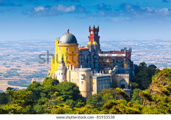 Pena National Palace in Sintra, Portugal (Palacio Nacional da Pena)
