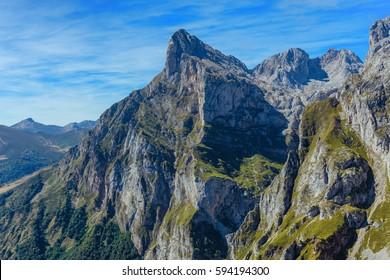 Pena Remona view. Picos de Europa, Cantabria, Spain.