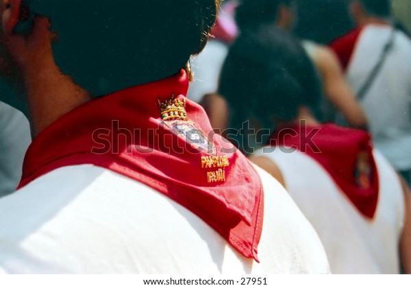 Pena Scarves, worn at the San Fermin festival to show which Pena (club)you belong to.