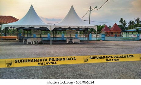 PENAGA, Penang - MAY 9th 2018 : Voting places for voter's to vote their government during the 14th Malaysia General Election. Election Commission of Malaysia assist checking and register all citizens.