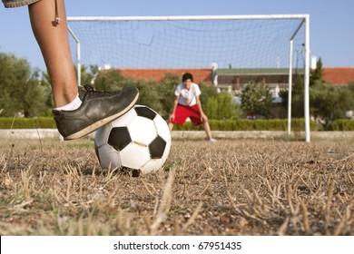 Penalty shootout in amateur football