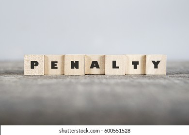 PENALTY word made with building blocks