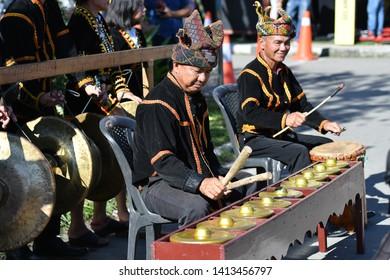 Penampang, Sabah Malaysia.May 30, 2019 : Group of people in traditional costume during Pesta Kaamatan. Pesta Kaamatan or Harvest Festival is a major celebration in Sabah.