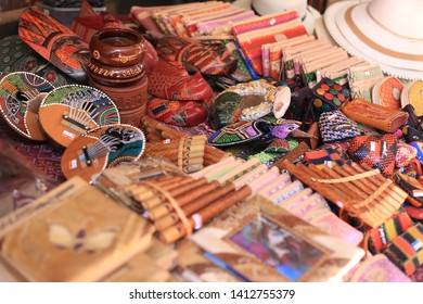 Penampang, Sabah, Malaysia, May 31, 2019 : Variety of souvenirs made by local people for sale during Pesta Kaamatan. Pesta Kaamatan or Harvest Festival is a major celebration in Sabah.
