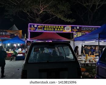 Penampang, Sabah, Malaysia, May 31, 2019 : Local street food vendor during Pesta Kaamatan. Pesta Kaamatan or Harvest Festival is a major celebration in Sabah.