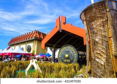 Penampang,Sabah-May 31,2016:A view of Kadazandusun Cultural Association KDCA Hongkod Koisaan,Penampang,Sabah,Borneo during Pesta Kaamatan.Pesta Kaamatan is a Harvest Festival celebrated yearly.