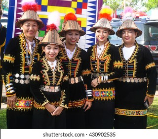 Penampang,Sabah-MAY 31,2016:Woman from Kadazandusun tribe in their traditional costume during the Sabah State Harvest festival celebration in Kota Kinabalu, Sabah Borneo, Malaysia.