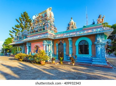 PENANG- APRIL 14: Sri Ruthra Veeramuthu facade in Penang hill on April 14, 2016 in George Town, Penang, Malaysia historical city centre has been listed as a UNESCO World Heritage Site .