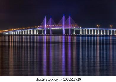 Penang Bridge light up