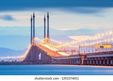 Penang Bridge view during sunrise