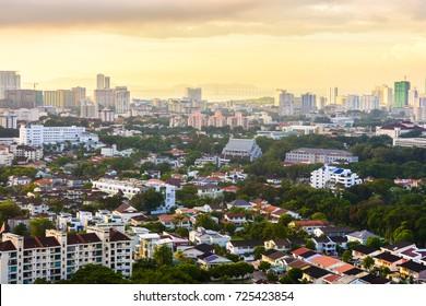 Penang city view in morning