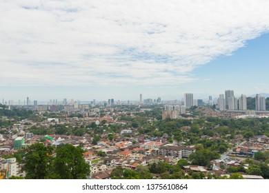 Penang cityscape in Penang island, Malaysia