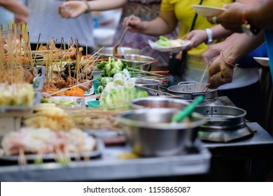 Penang famous traditional lok lok street food