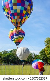 Penang Hot Air Balloon Fiesta 2019 in the Polo Ground of Georgetown, Penang, Malaysia - Feb 10th 2019.