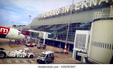 Penang / malaysia -01/17/2019 : some activity on penang international airport