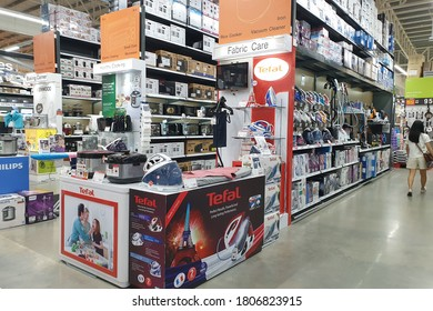 PENANG, MALAYSIA - 18 AUG 2020: Interior view of the department store of HomePro, Penang. HomePro is a hypermarket of home product and building construction in Malaysia.