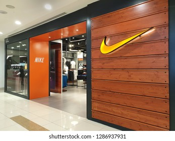 efd338ec444 PENANG, MALAYSIA - 26 DEC, 2018: Nike store front in shopping mall.