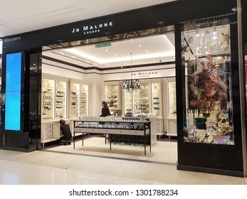 PENANG, MALAYSIA - 26 DEC, 2018: Jo Malone London store in Gurney Plaza, Penang. Joanne Lesley Malone MBE is a British perfumer, the founder of Jo Malone London and Jo Loves.
