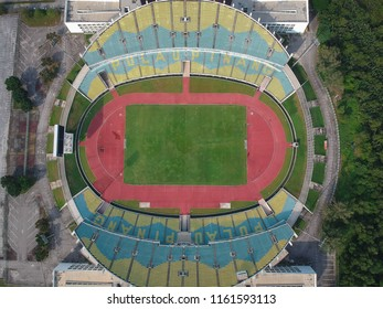 Penang, Malaysia - August 21, 2018 : Penang State Stadium is a multi-purpose stadium in Batu Kawan, South Seberang Perai.