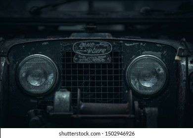 Penang, Malaysia - August 28, 2019: The Oxford - Series 1 Landrover under The Last Overland campaign.