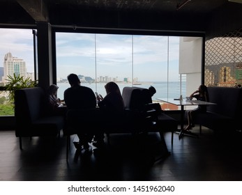 Penang, Malaysia. December 2, 2018. Ambience in the morning at Aberdeen Sky Restaurant, Hotel Malaysia at Georgetown