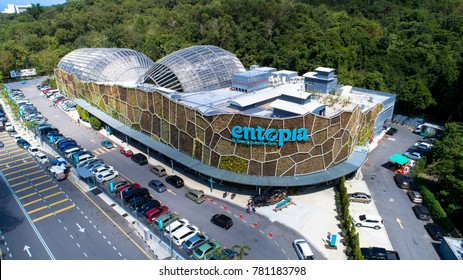 Penang, Malaysia. December 24, 2017. Aerial view of Entopia, Butterfly farm as a tourist destination in Teluk Bahang, Pulau Pinang. Founded the tropical world's first butterfly and insect sanctuary.